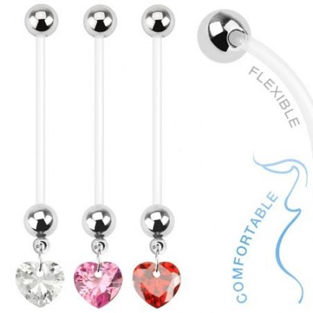 Piercing nombril de grossesse Coeur