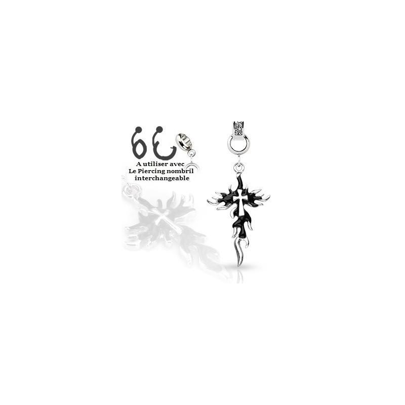 Piercing interchangeable Croix en feu bijou accessoires pour nombril pas cher