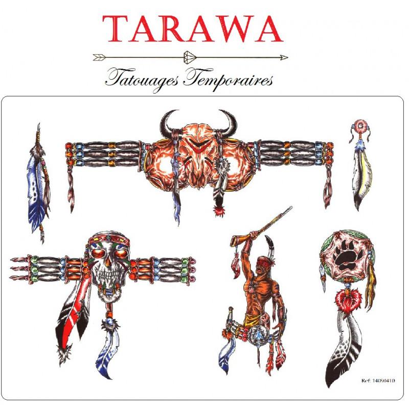 Tatouage Temporaire Guerrier Indien Tarawa Com