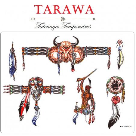 Tatouage temporaire guerrier indien
