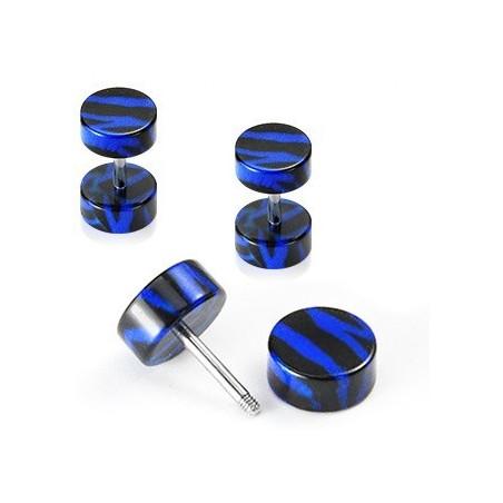Faux écarteur zébré bleu et noir