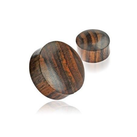 Piercing plug en Bois naturel marron