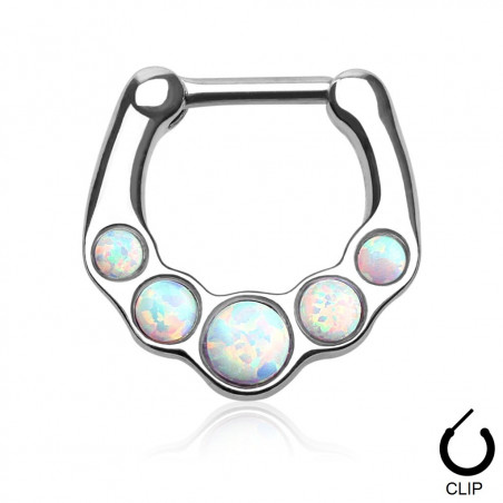 Piercing Septum clip Opale blanche