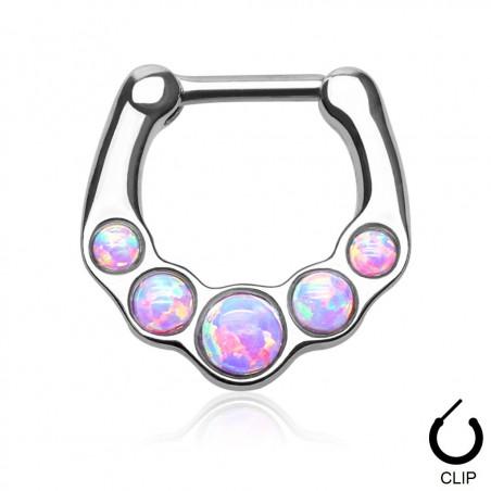 Piercing Septum clip Opale violette