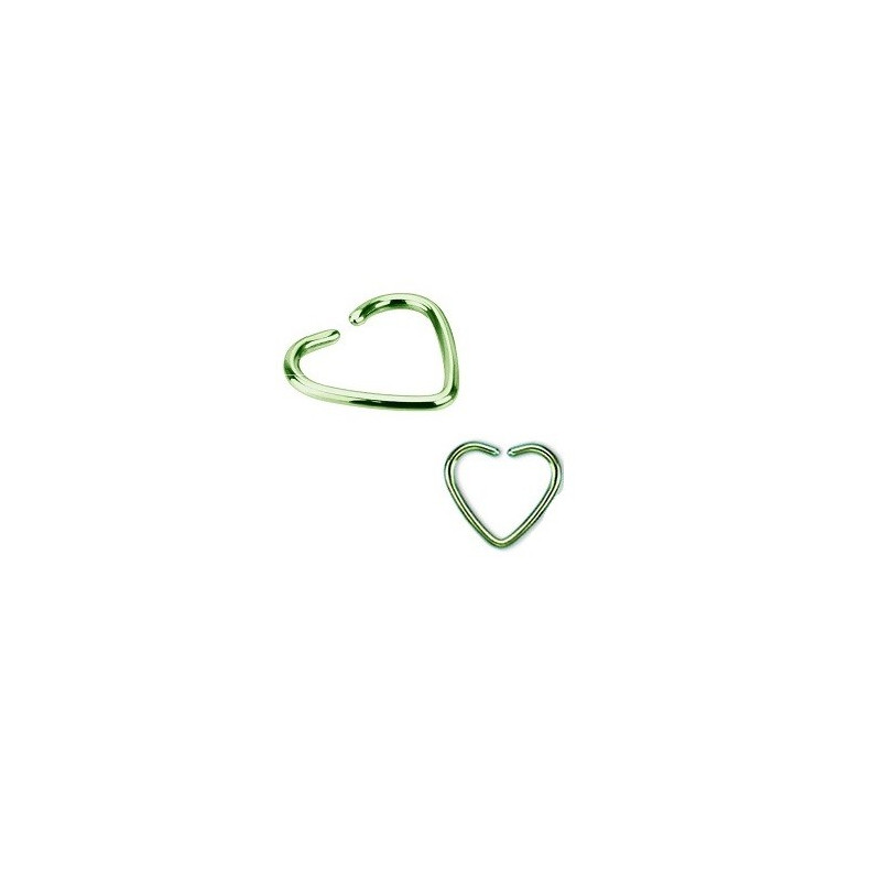 Piercing anneau pour oreille en titane de couleur vert