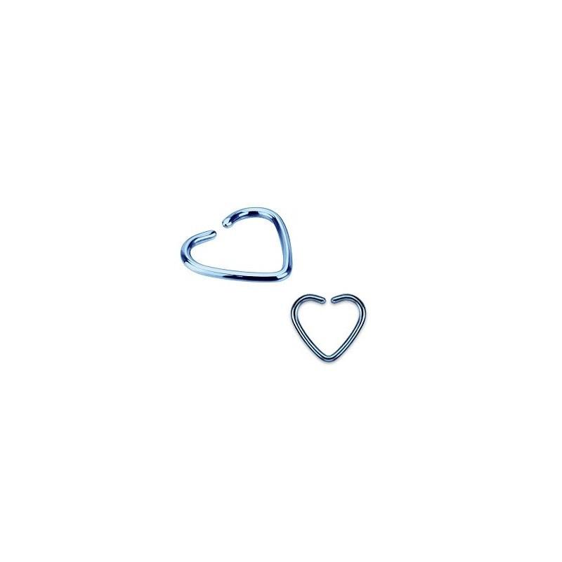 Piercing anneau pour oreille en titane de couleur bleu
