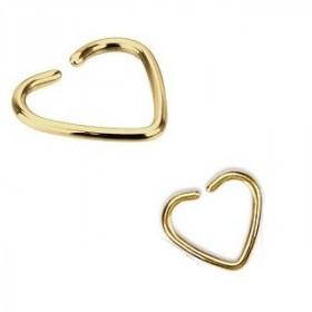 Piercing anneau pour oreille en titane de couleur or doré