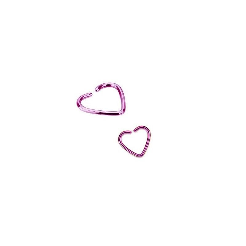 Piercing anneau pour oreille en titane de couleur violet