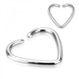 Piercing anneau pour oreille en titane motif coeur pour piercing tragus piercing hélix et cartillage