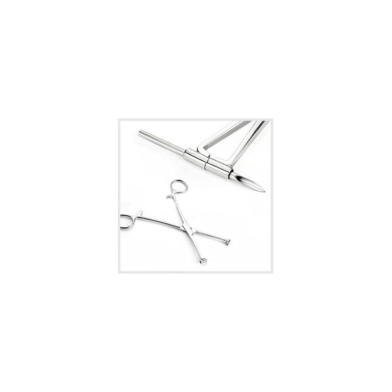 Pince piercing pour septum professionnel du piercing en inox 316 l de qualité pour autoclave