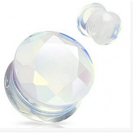 Piercing Plug en Opale facette
