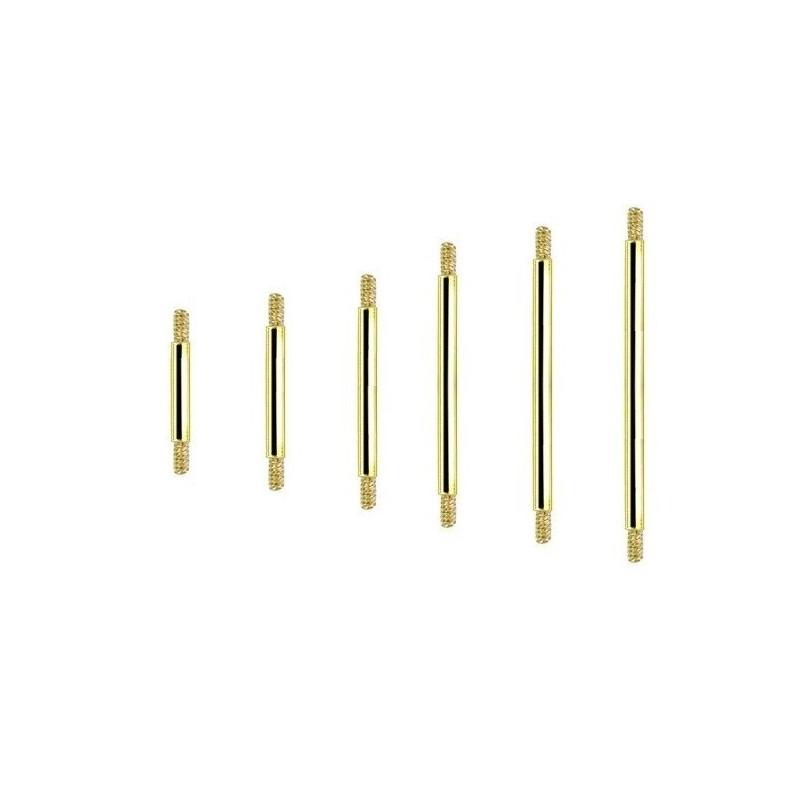 barre de piercing barbell titane dor 1 6 mm. Black Bedroom Furniture Sets. Home Design Ideas