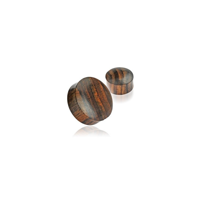 Piercing plug ecarteur d oreille en Bois naturel organique de couleur marron