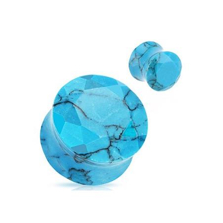 Piercing plug piere naturel turquoise