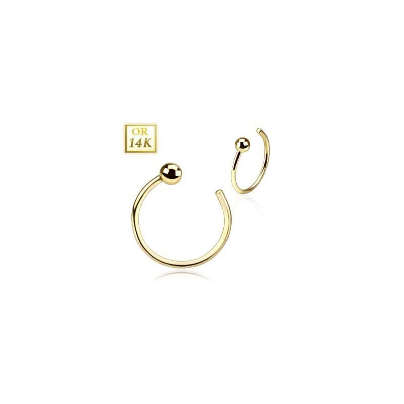 piercing anneau de nez en or jaune. Black Bedroom Furniture Sets. Home Design Ideas