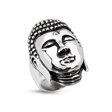 Bague Bouddha en acier Inoxydable