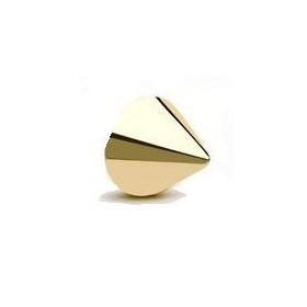Pointe spike de piercing en or jaune 18 carats en 1.2 mm par 3mm
