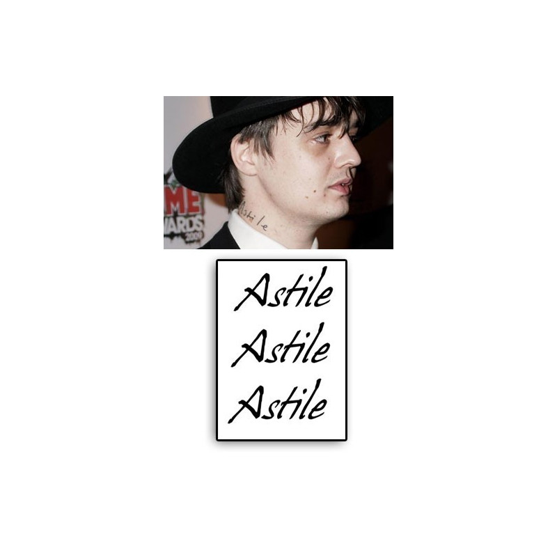 Pete Doherty tattoos temporaires Astile
