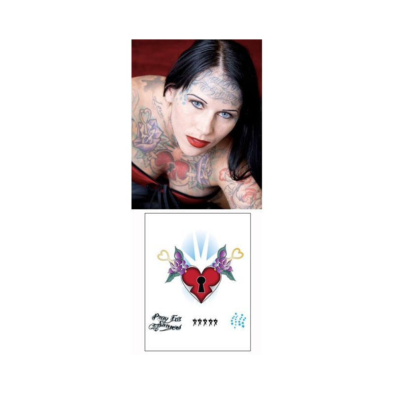 Michelle Mcghee Tattoos temporaires Coeur