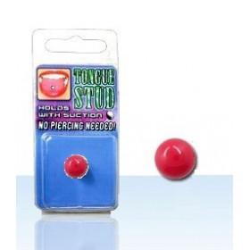 Faux piercing langue rouge piercing phosphorescent en acrylique pas cher