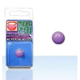 Faux piercing langue fluo acrylique Phosphorescent Violet pas cher