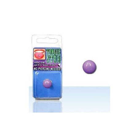 Faux piercing langue Phosphorescent Violet