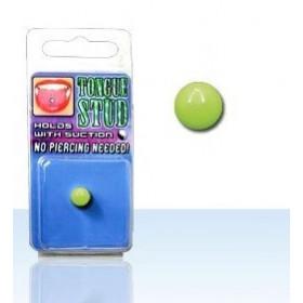 Faux piercing langue en acrylique fluo Phosphorescent Vert pas cher