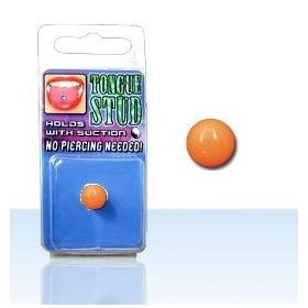 Faux piercing langue en acrylique fluo Phosphorescent Orange pas cher