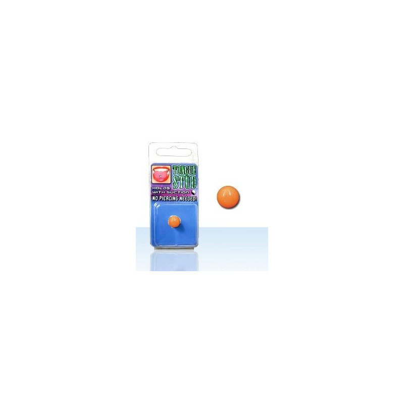 Faux piercing langue en acrylique fluo Phosphorescent Orange pas cher
