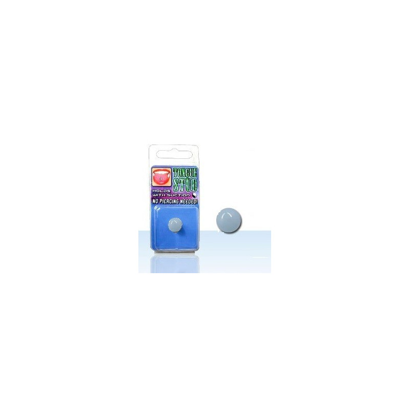 Faux piercing langue fluo Phosphorescent Gris