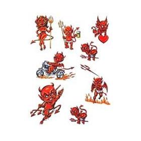 Tatouage Diable rouge autocollant