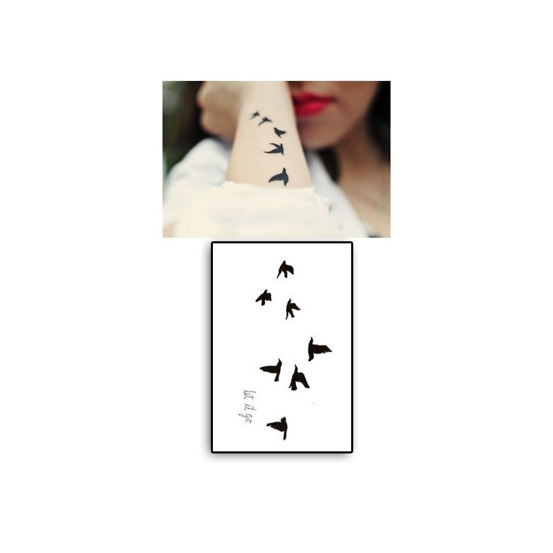 Tatouages Temporaires Let it go Oiseaux