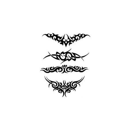 Tattoo autocollant Tribal noir