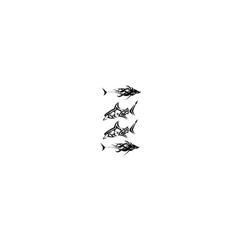 Planche Tattoo autocollant Requin et Dauphin