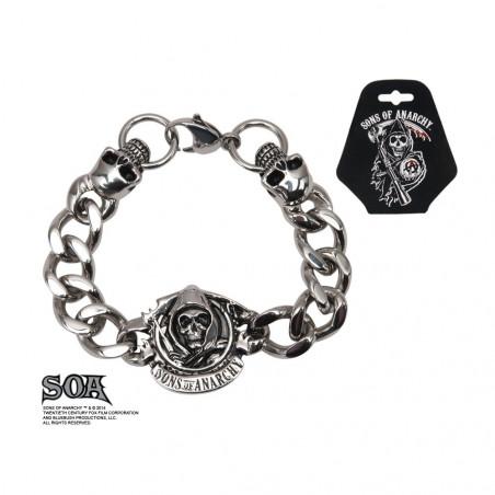 Bracelet Skull acier Sons of Anarchy logo Reaper
