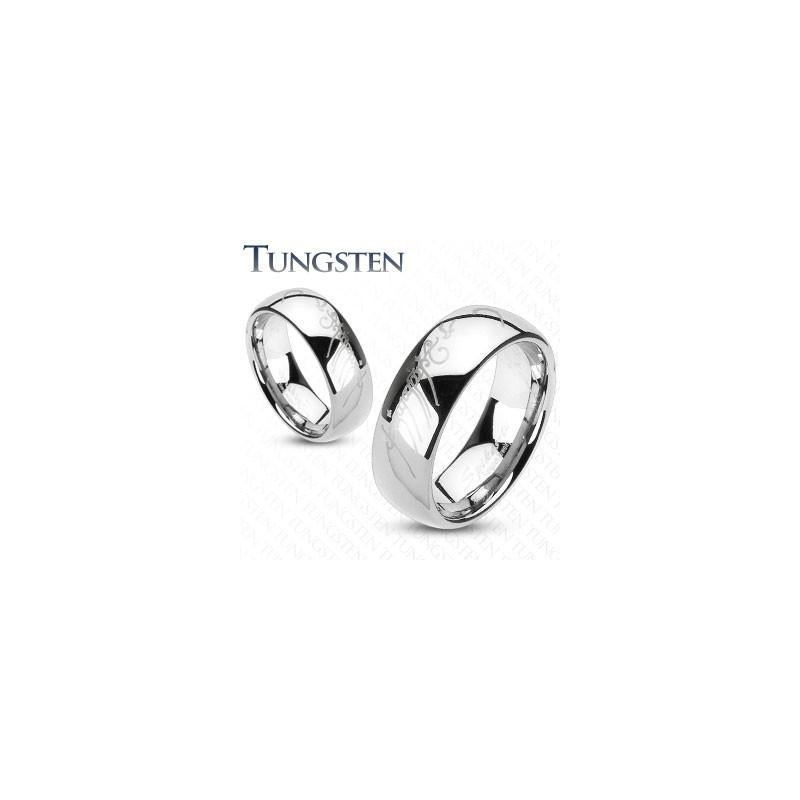 Bague homme Tungstène le seigneur des anneaux ecriture elfique Elfique largueur 8 mm