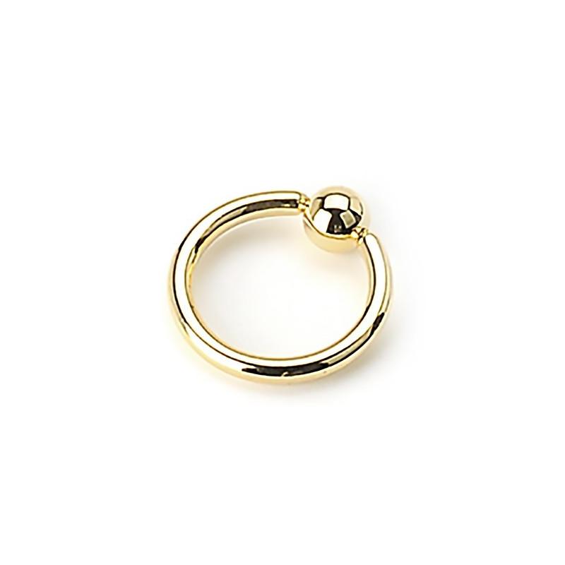 Piercing anneau 1.2 mm en titane doré de couleur or avec bille 3 mm