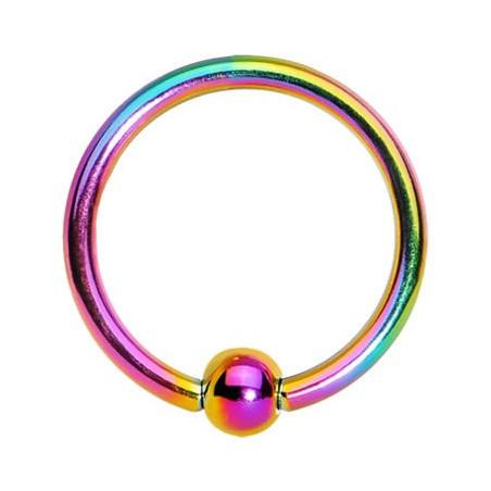 Piercing anneau 1.2 mm en titane essence bille 3 mm