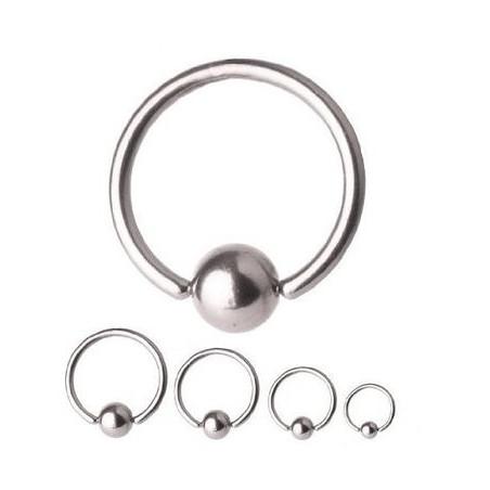 Piercing anneau 1.2 mm en titane bille 3 mm