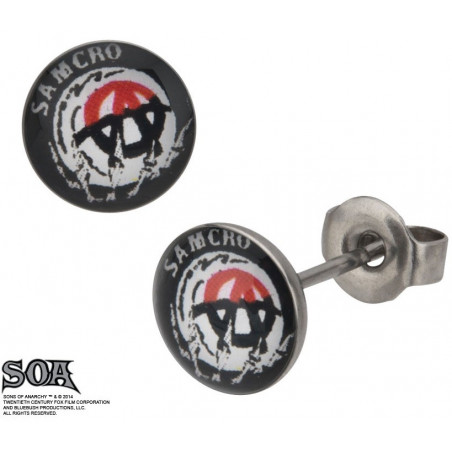 Boucles d'oreille SAMCRO Sons of Anarchy