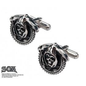 Boutons de manchettes motif Skull marque Sons of Anarchy en inox haute qualité