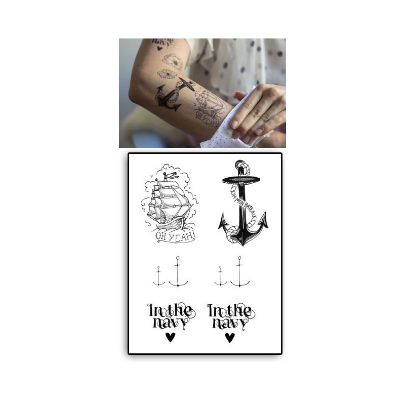 Tatouages Temporaires Ancre in the Navy