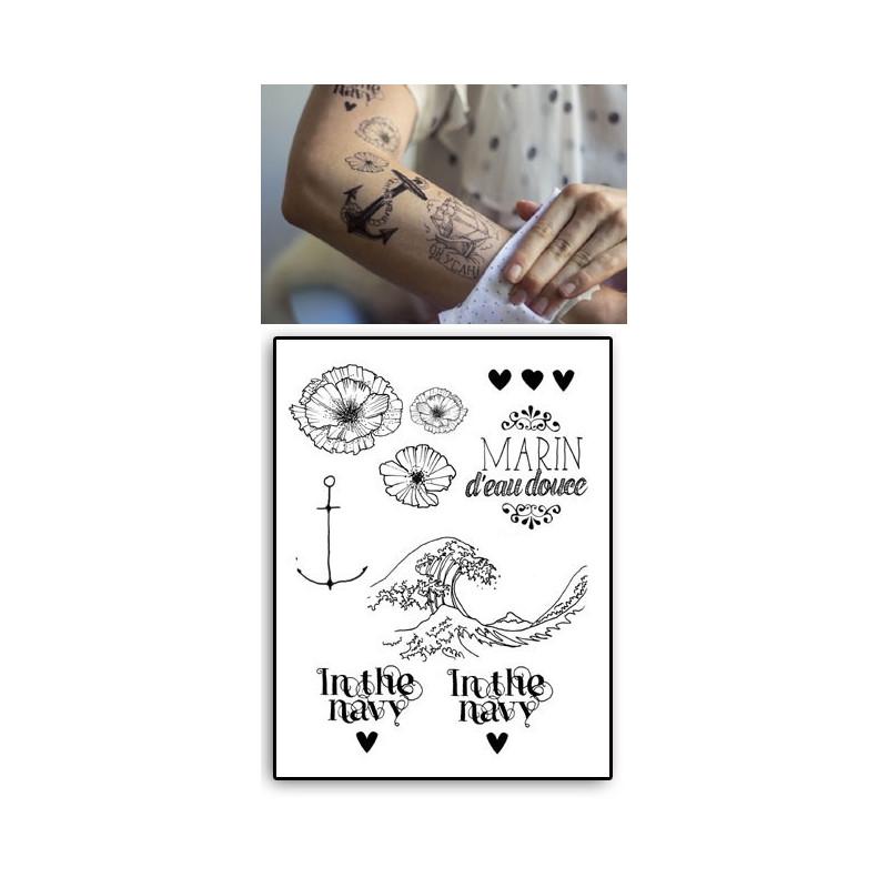 Tatouages Temporaires Marin d eau douce