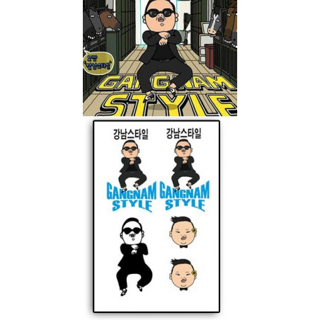 PSY - GANGNAM STYLE Tattoos temporaires