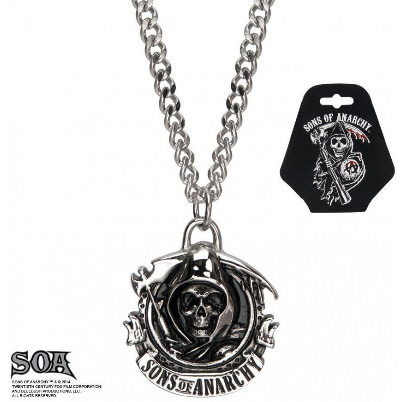 Collier homme bicker en acier inoxydable chirurgical marque Sons of Anarchy