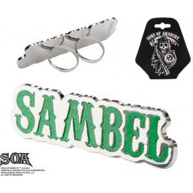 Bague double doigt Sambel marque Sons of Anarchy pour homme et femme bijoux bicker