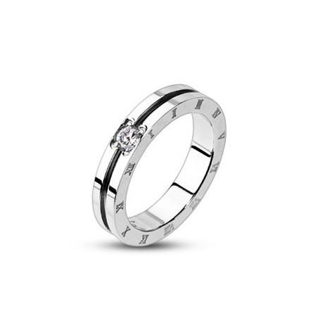 Bague anneau femme chiffre romain