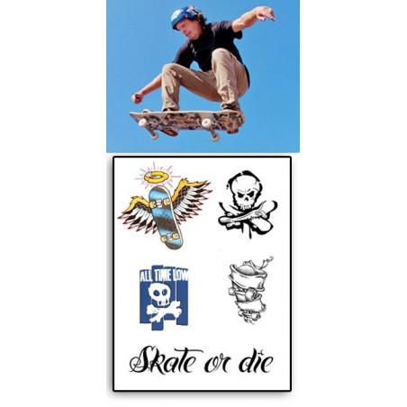Tatouages Temporaires Skate or Die
