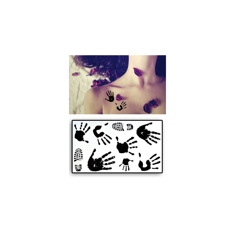 Tatouages temporaires Marques de Mains