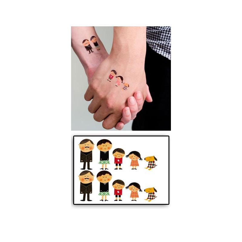 Tattoos temporaires La FAMILLE Pion-Pion